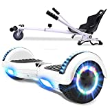 RCB Hoverboard 6.5 y Hoverkart Overboard con Bluetooth Patinete Eléctrico Scooter con Luces LED...